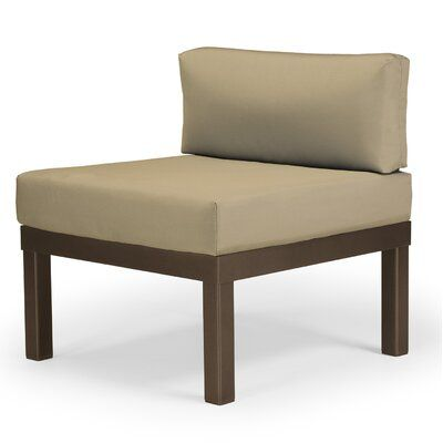 Teleskop Casual Ashbee Sectional Armless Patio Chair mit Kissen
