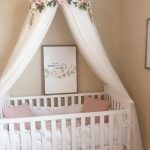Aurora Canopy - Serene Floral Crib Canopy // Bed Crown // Floral Mobile // Nursery Decor // Teepee // Baby Shower Gift // Pink Peonies