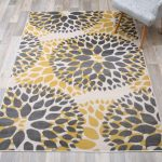 Beaudette Floral Yellow / Grey Area Rug