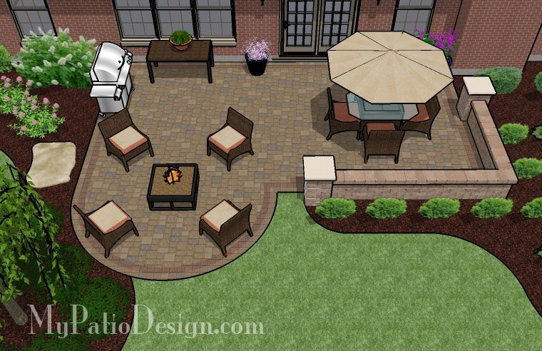 Boot Shape Patio