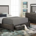 Cassidy Acacia Polstring Queen Storage Bed