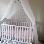 Ella Blue Canopy - Floral Crib Canopy // Bed Crown // Nursery Decor // Teepee // Baby Shower Decoration or Gift // Pink Peonies and Roses