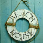Life Preserver Ring Sign Beach House Wall Art Nautical Coastal Living by CastawaysHall