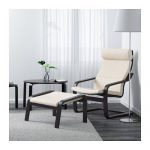 POÄNG Armchair - black-brown, Robust Glose off-white - IKEA