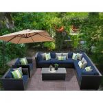 Sol 72 Outdoor Tegan 10 Piece Sectional Seating Group with Cushions