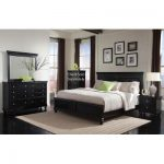 Svart 4-delad Queen Bedroom Set - Essex