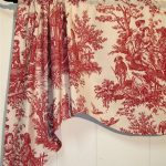 ~ WAVERLY ~ Country Life ~ TOILE ~ RED ~ VALANCE ~ TOPPER ~ Curtain ~ UNLINED ~ French Country ~