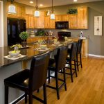 21 Rosemary Lane: Kitchen Inspiration ~ Gray Paint Color with Honey Oak Cabinets