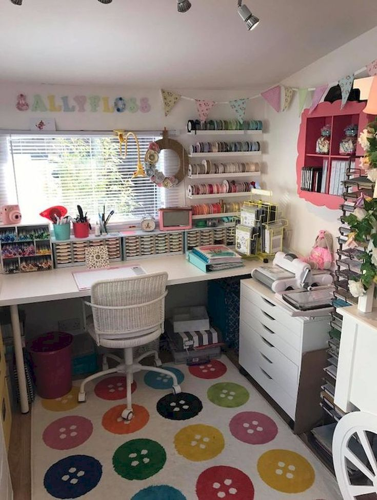 30 Awesome Craft Rooms Design Ideas