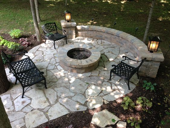 30+ Best Stone Patio Ideas for Your Outdoor Patio in Backyard