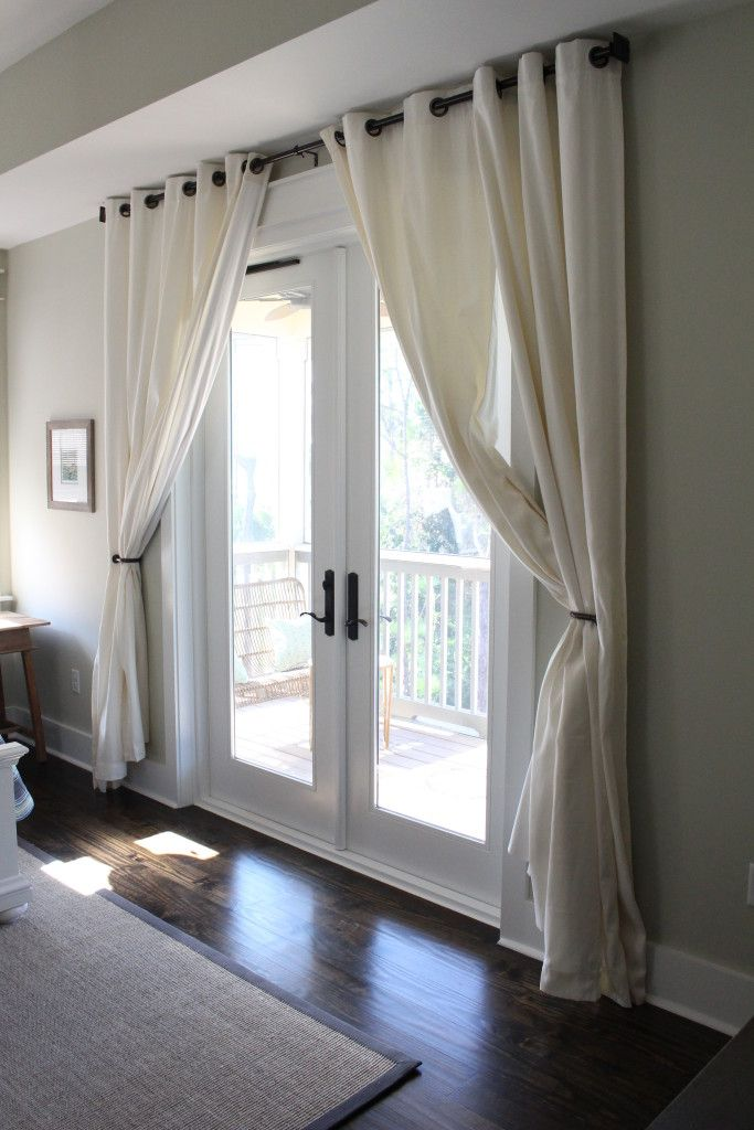 30A Home Tour: Seaside, Florida | Beach House Decor – French Doors with Curtains