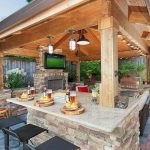 60 smart ideas for outdoor kitchens (18
