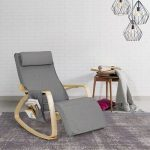 Advertisement - Indoor Rocking Chair Cushioned Armchair Lounge Chairs Leisure Re...