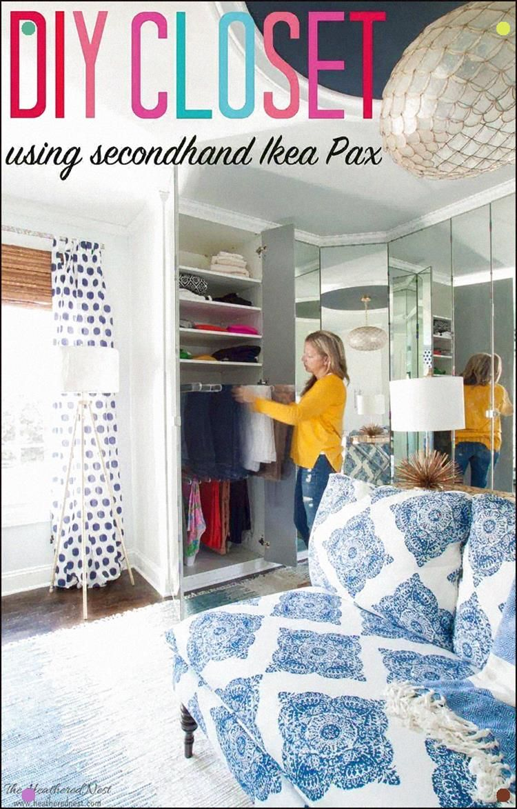 Amazing Walk-In Closet Design And It's A Diy Project Using Secondhand Ikea Pax W…