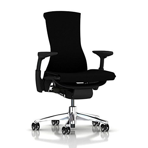 Amazon.com: Herman Miller Embody Ergonomic Office Chair with Graphite Frame/Aluminum Base | Adjustable Arms with Translucent Casters | Black Rhythm: Kitchen & Dining