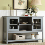 """AmazonSmile - Mixcept 55"""" Modern and Contemporary Sideboard Buffet Cabinet Wood ..."""