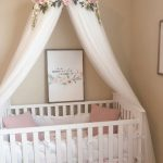 Aurora Canopy - Serene Floral Crib Canopy // Bed Crown // Nursery Decor // Teepee // Baby Shower Decoration or Gift