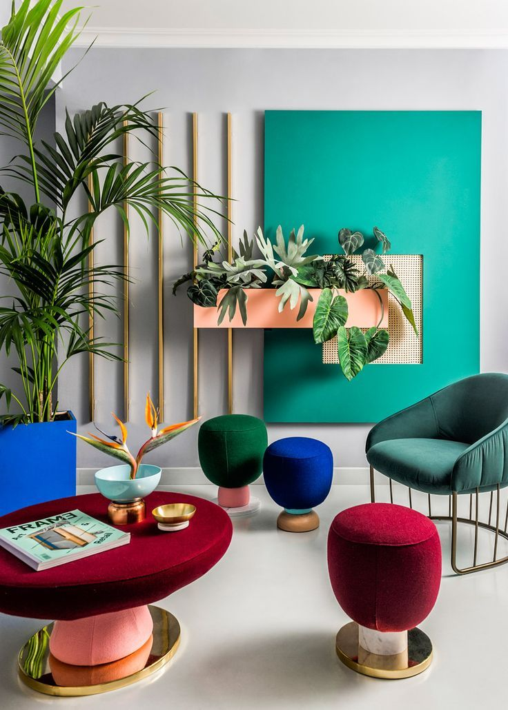 Bright colours and geometric forms used by the 1980s Memphis Group influenced th…