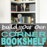 Build your own built-in corner bookshelf with this detailed tutorial. It's perfe...
