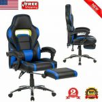 Computer Gaming Office Chair Swivel Racing Seat Ergonomic High-Back Faux Leather...