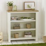 Cotswold Cream Painted Small Low Adjustable 3 Shelf Bookcase