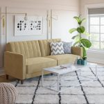 DHP Pin Tufted Transitional Velvet Futon Couch, Multiple Colors - Walmart.com