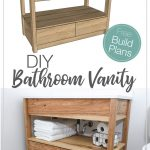 DIY Bathroom Vanity with Bottom Drawers
