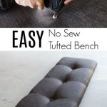 EASY No Sew Tufted Bench Hack