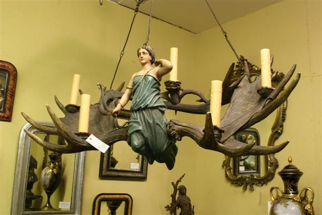 "Early 19th century antique chandelier. ""Diana the Huntress,"""