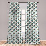 East Urban Home Ambesonne Nautical Curtains, Nursery Animal Print Of Fish And Jellyfish, Window Treatments 2 Panel Set For Living Room Bedroom Decor,
