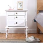 FeiQiangQiang Bedside table - solid wood simple modern bedroom bed classic stora...