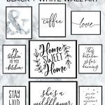 Free Printable Black and White Wall Art - download and print your own wall art for your home decor and office decor #freeprintable #wallart #blackandwhiteart #blackandwhite