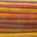 Hand Dyed Felted Wool Fat Quarters Orange- Rug Hooking -Applique Wool -Penny Rug Wool - Hand Overdyed - Hooked Rug Wool - Felted Wool Fabric