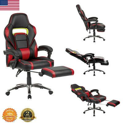 High Back Office Chair Ergonomic Recliner Computer Desk Gaming Racing Style 360 …