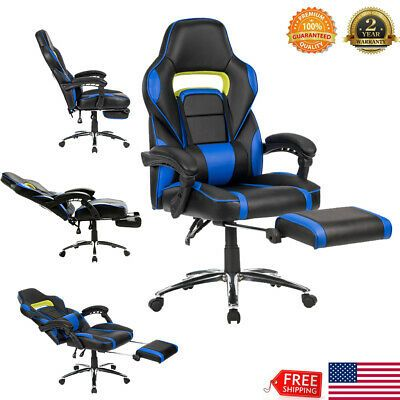 High Back Office Chair Ergonomic Recliner Computer Desk Task Gaming Racing Style…
