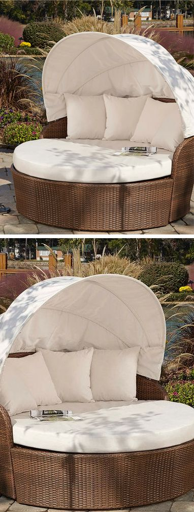 I want one badly !  Outdoor canopy daybed #product_design #furniture_design
