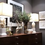 Ideas For Ornaments On Contemporary Sideboard Decor With Concrete Table Lamp #co...