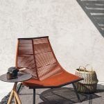 """LAZE outdoor lounge chairs are conceived as """"idle seats"""" thanks to a wide and en..."""