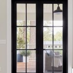 Looking for french glass door ideas? This black modern glass door with premium e...