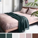 Mauve , Grey and Dark Green for Bedroom