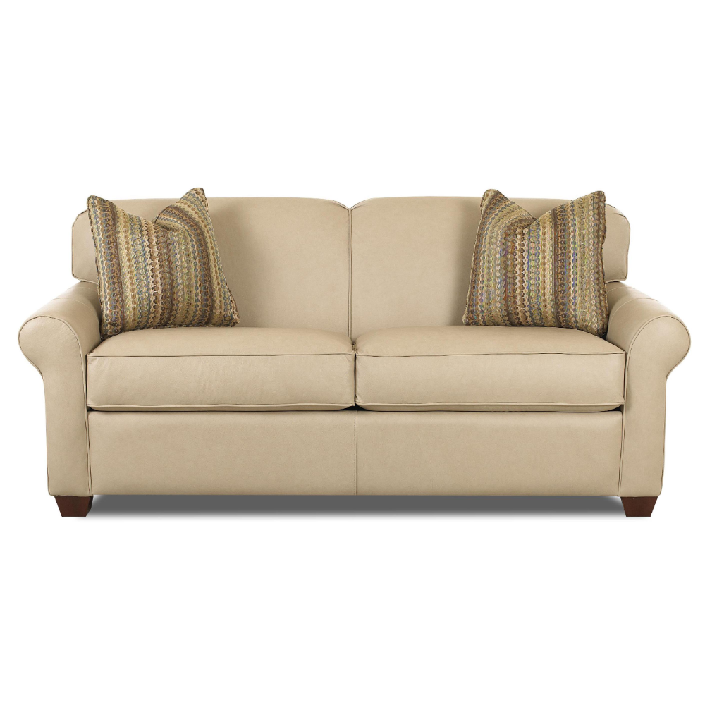 Mayhew Innerspring Sleeper Sofa with Accent Pillows by Klaussner