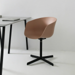 Modern Swivel Chair, Aluminum Base Chair, Computer Chair Pastel Colors, LOFT Chair for Office, Pink Swivel Office Chair, Metal Furniture