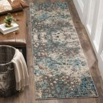 "Monaco Collection 2'-2"" X 8' Rug in Grey And Light Blue - Safavieh MNC225E-28"