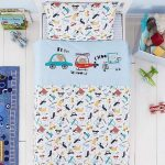 My First Journey 100% Cotton Cot Bed Duvet Cover and Pillowcase Set