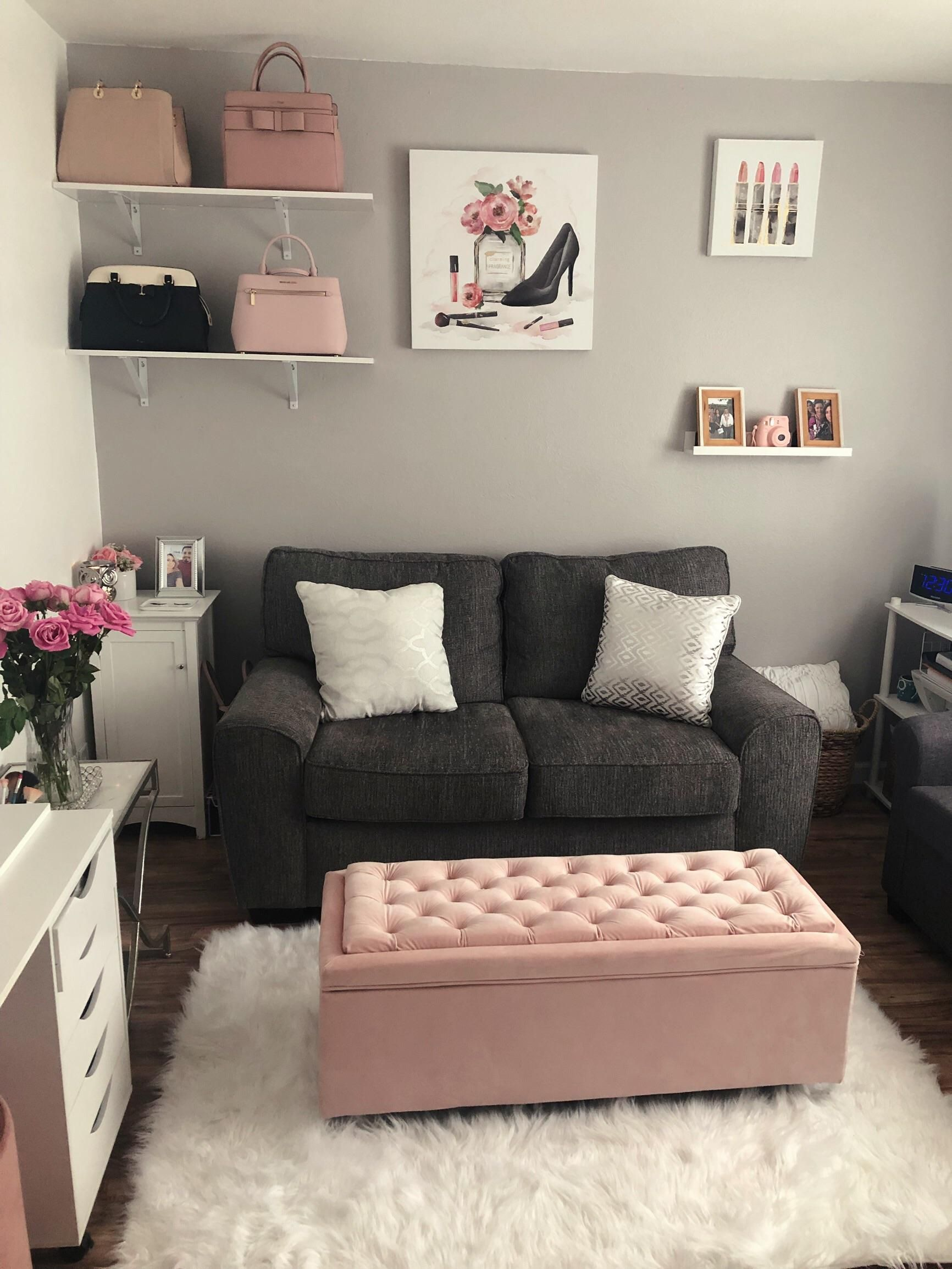 My new chic blush and grey room ( pull out sofa-bedroom)-SacramentoCA