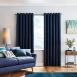 Navy Blue Curtains - Bedroom