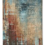 Next Bronx Salvage Abstract Rug -  Teal