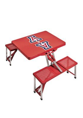 Oniva Ncaa Arizona Wildcats Picnic Table Portable Folding Table With Seats – Red