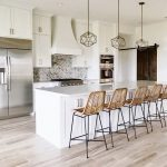 Opt for wicker bar stools and deco light fixtures for a boho chic twist on your ...
