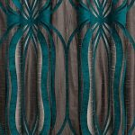 Orion Teal Curtain Fabric